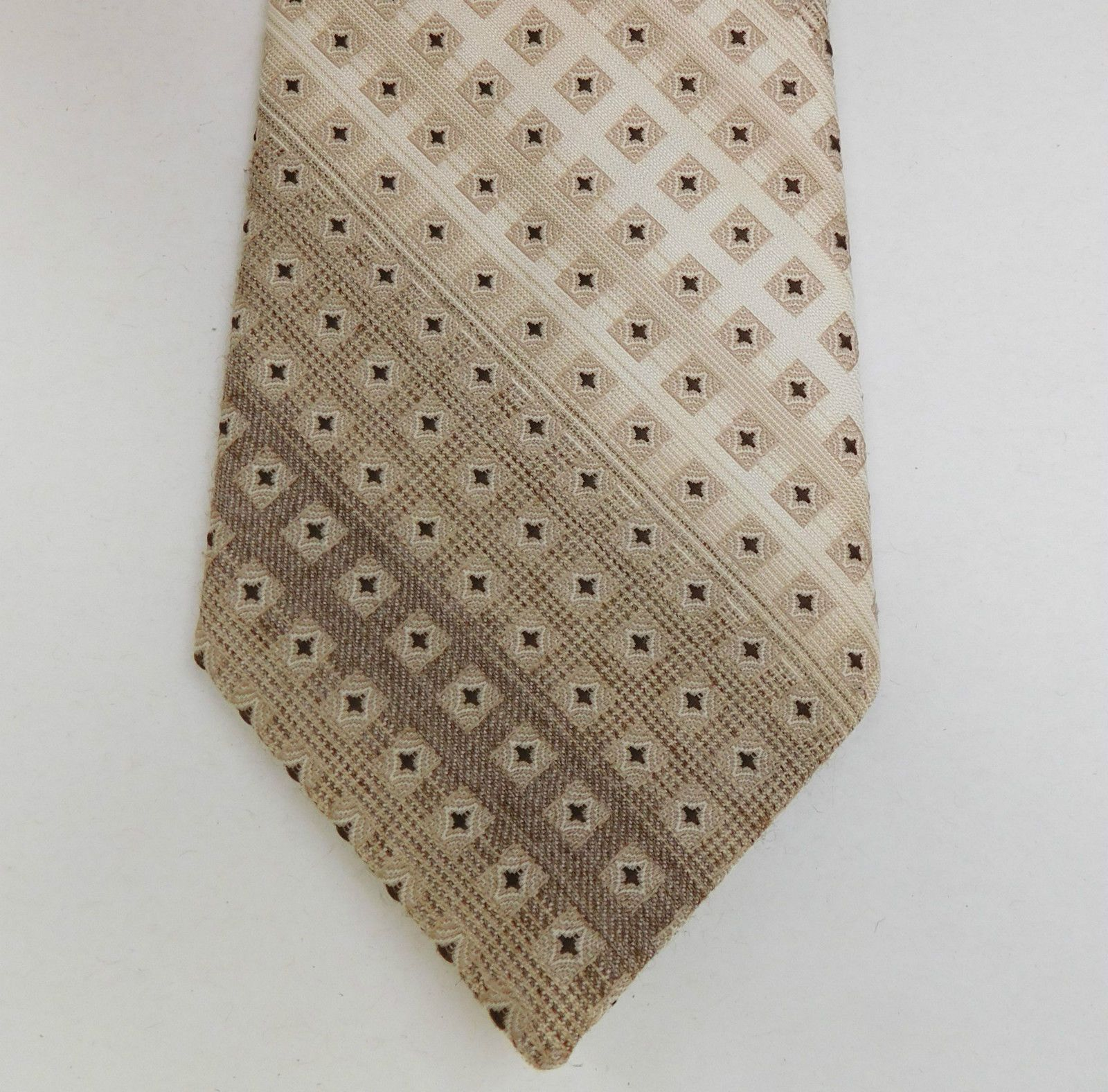 "Ties, Bow Ties & Cravats Tootal Men's Tie Brown Striped Patterned Polyester 3"" Width 57"" Length"