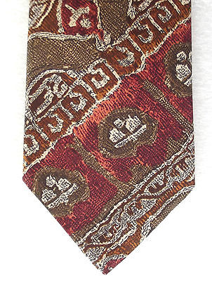 Mens silk tie by Marks and Spencer Vintage patterned tie