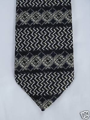Striped patterned tie by Marks & Spencer navy blue