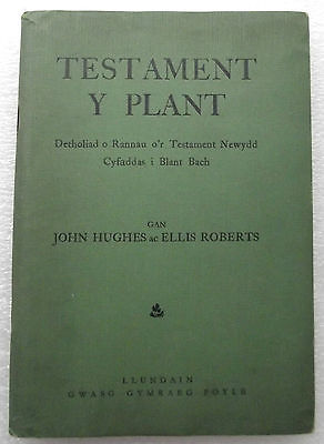TESTAMENT Y PLANT vintage 1940s Welsh childrens Bible wartime WW2 Hughes Roberts